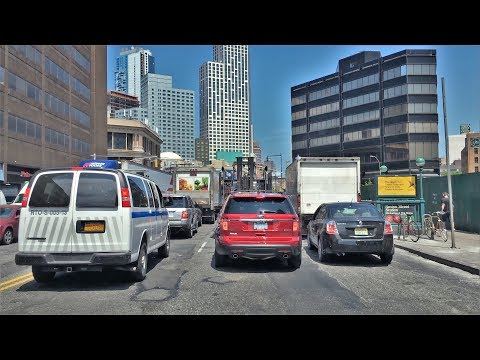 Driving Downtown - Brooklyn New York City NY USA