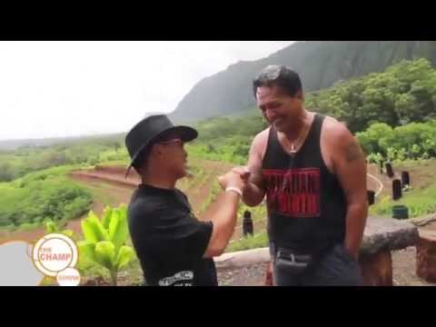 Bumpy Kanahele Interviewed by Champ at Pu`uhonua o Waimanalo Village