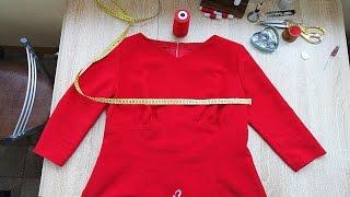 Как расшить платье на подкладке по груди