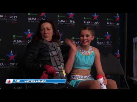 Jeux du Québec – 2017 02 27 – Patinage Artistique Juvenile Femmes 1