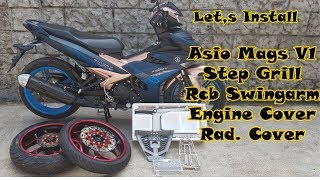 INSTALLING x ASIO MAGS x STEP GRILL x RCB SWINGARM x RAD COVER x ENGINE COVER x EP 45