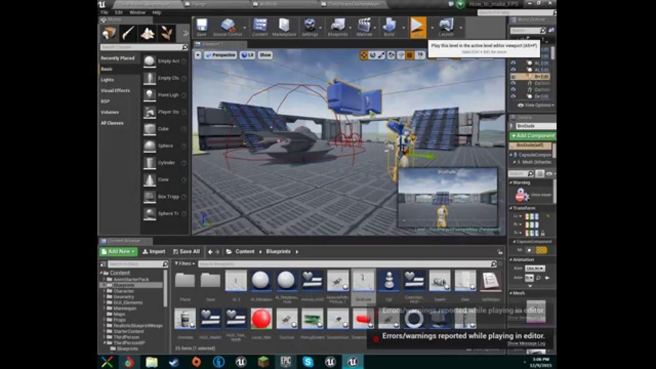 Make fps game unreal engine 4