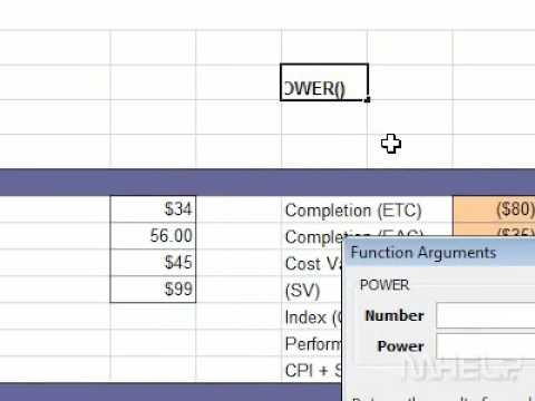 How To Raise A Number To A Power In Excel Youtube