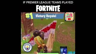 Premier league in fortnite || premier league reality ||