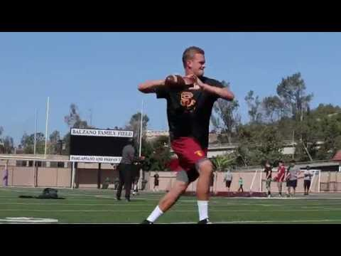 Max Browne | USC QB Training With Steve Clarkson