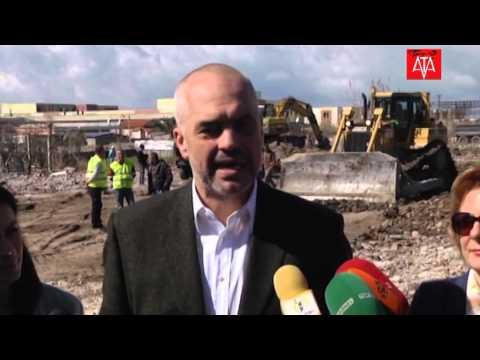 Kryeministri Rama viziton punimet ne rrugen Transballkanike dhe plazh