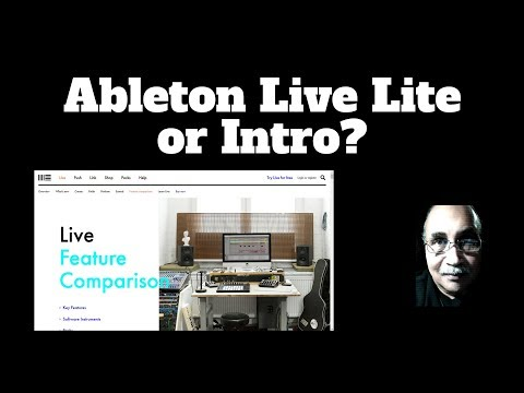 Ableton Live Intro Or Lite?