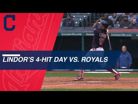 Francisco Lindor's 4-hit, 2-HR game vs. Royals