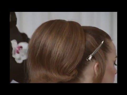Прическа с валиками с обучающего DVD Свадебный маэстро