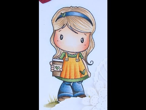 Latte Lucy - Copic Coloring Card Kit