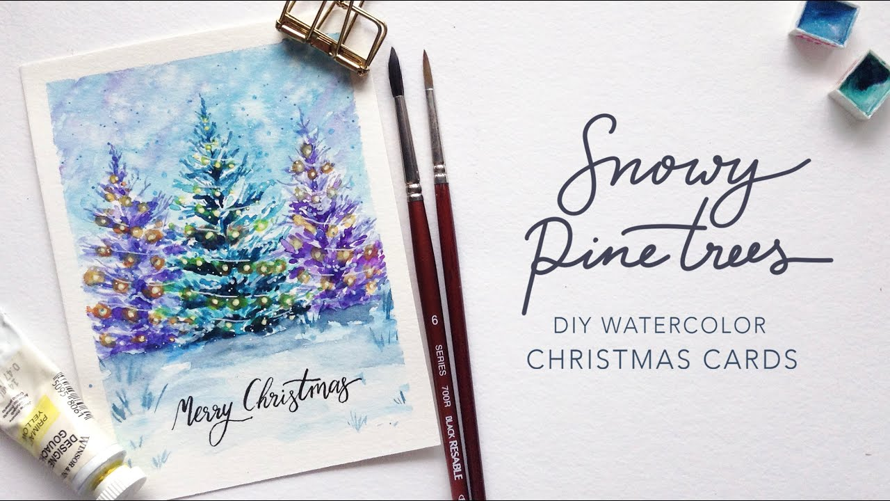Diy Watercolor Christmas Cards For The Artsy Just Crafting Around