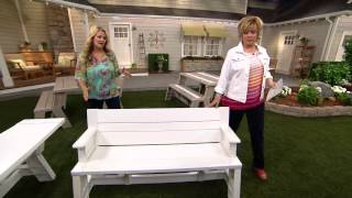 Convert-a-bench Ultra Ii Outdoor 2-in-1 Bench-to-table W/5 Year Lmw With Carolyn Gracie