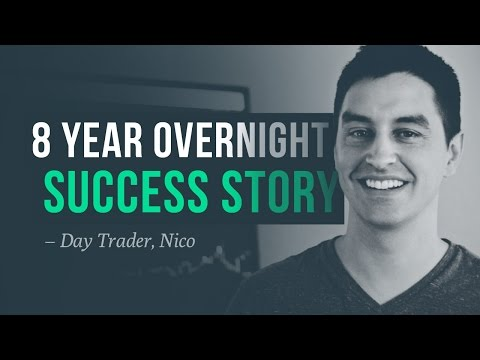 An 8 year overnight success story - profitable day trader, Nico