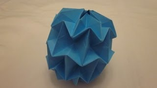 Origami Mini Magic Ball Tutorial (Yuri Shumakov)