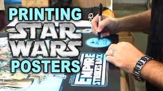 Printing, Signing and Numbering STAR WARS Art Prints and Posters