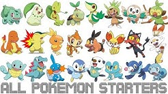 All Generations Pokémon Starters