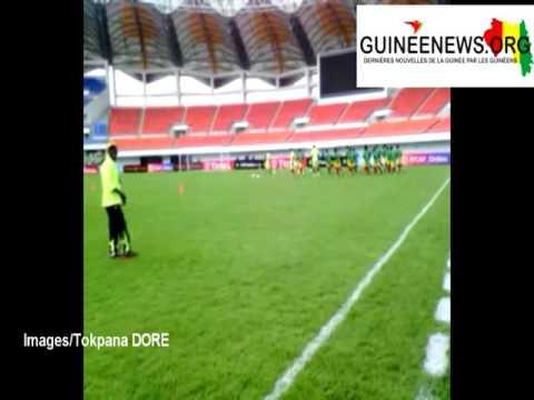 Le Syli junior s'échauffe au Heroes Stadium de Lusaka où il défie demain le pays hôte de la CAN U17.
