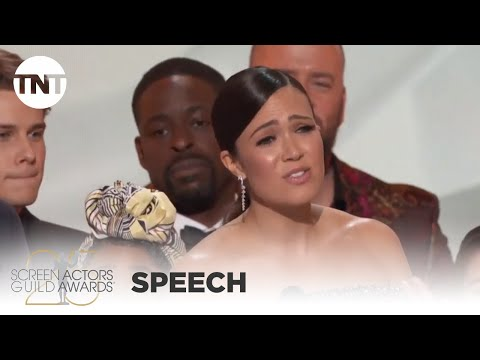 Ensemble of This is Us: Award Acceptance Speech   25th Annual SAG Awards   TNT