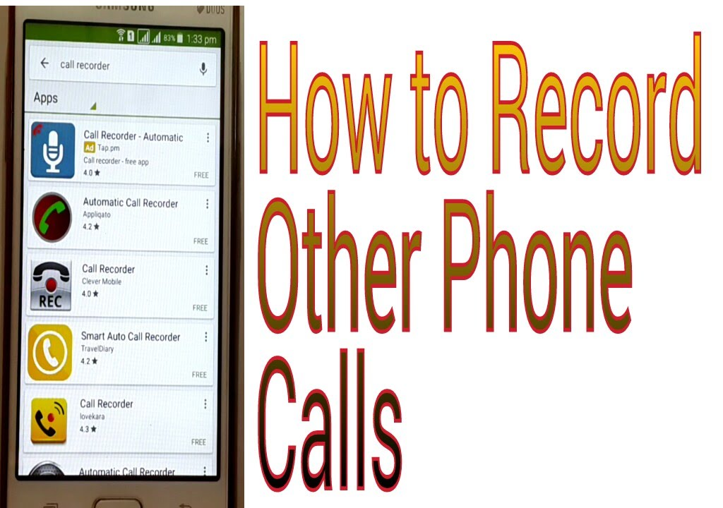 how to record other people's phone calls