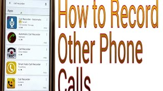 Repeat youtube video how to record other people's phone calls