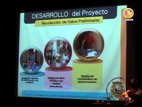 Sanmarquinos presentan experiencia exitosa de Emprendedurismo Social:Minicentral Hidroeléctrica