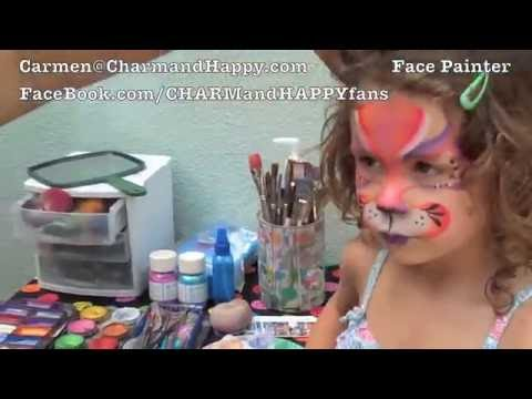 Princess and cat face painting. Fast and easy by Carmen Tellez