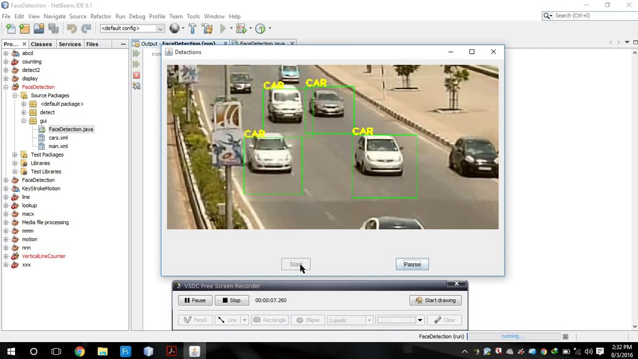 car Detection in java using openCV - YouTube
