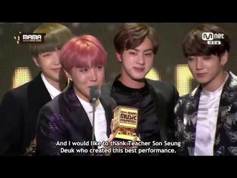 [ENG SUB] BTS 방탄소년단 MAMA 2016 Best Dance Performance Male Group