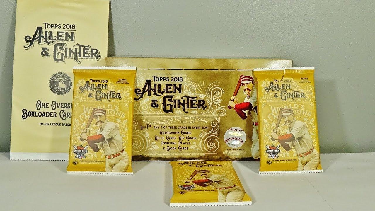 2018 Topps Allen Ginter Baseball Hobby Box Hit Packs Break Awesome