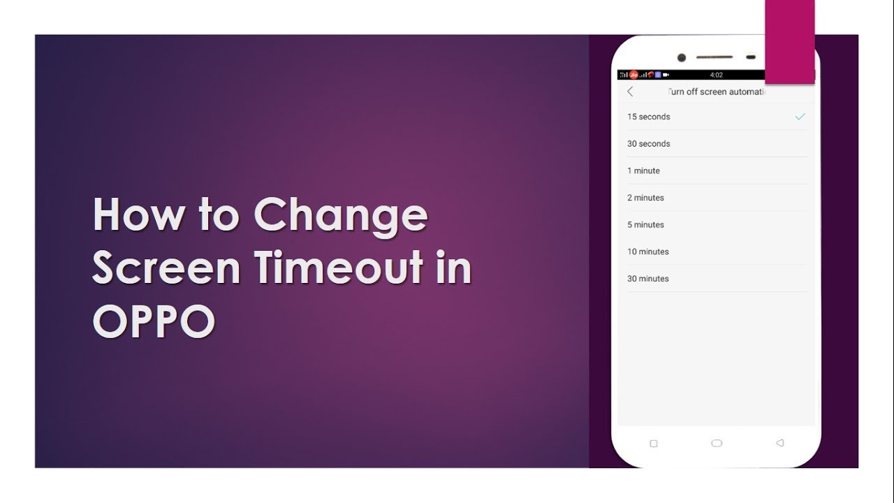 How to Change Screen Timeout in OPPO