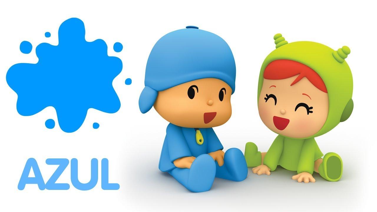 Pocoyo En Espanol Aprende Los Colores Azul Caricaturas Y