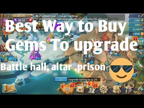 Best Way To Buy Gems For Battle Hall, Prison, Altar Lords Mobile |Lords Mobile Buying Gems | L