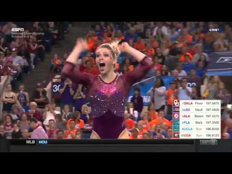 Haley Scaman Oklahoma 2016 Floor Super Six Finals 9.95
