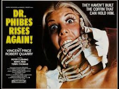 dr phibes rises again 1972 with Robert Quarry, Peter Cushing,Vincent Price movie