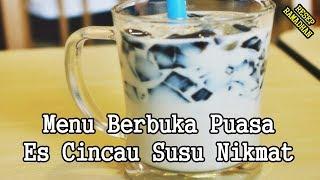 Minuman Buka Puasa - Resep Cara Membuat Es Cincau Susu Nikmat