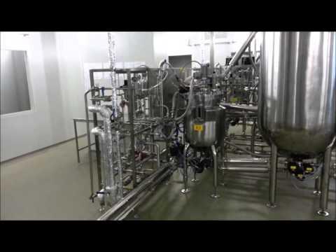 Example of bioreactor line design for manufacturing