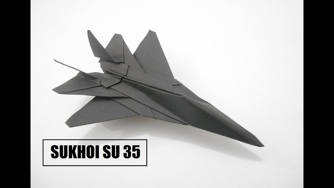 How To Make Paper Airplane Best Plane Origami Jet Fighter Is Cool Sukhoi Su 35