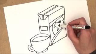 como dibujar una caja de leche | como dibujar una caja de leche paso a paso