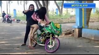 Cewek Ninja Modifikasi Street Racing Bikin Ng!l3rr Gass Polll Bro !!!!