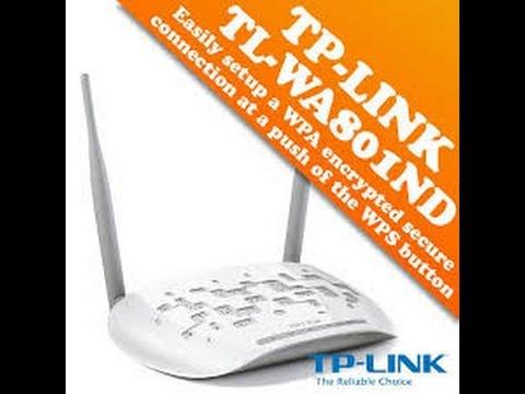 برمجة اكسس بوينت Tp Link موديل Tl Wa801ndللعمل على الشبكة