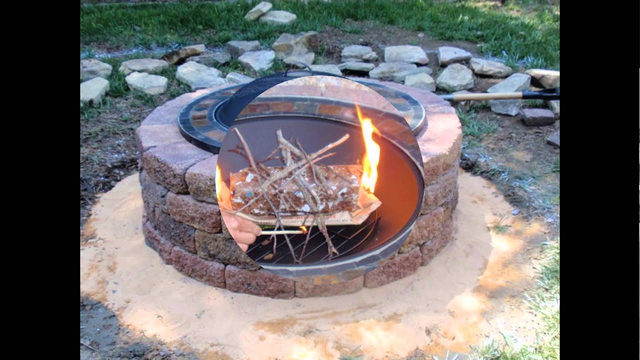 Diy outdoor brick fire pit kits design with grill in the for Easy diy fire pit with grill