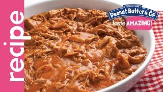 Slow Cooker Peanut Butter Pulled Pork Recipe