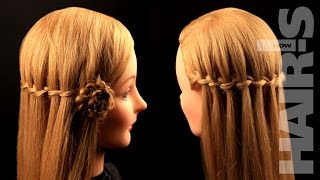 Плетем косу «Водопад» из трех прядей - видеоурок (мастер-класс) Hair's How.