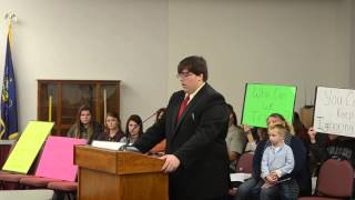 Kyle Snyder Speaks During the Shikellamy School Board