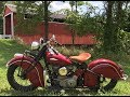 Take a ride with me on my 1940 Indian Chief Motorcycle, Vintage Indian motorcycle