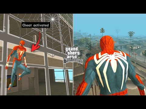 Secret Spider Man Cheat Code In GTA San Andreas [ALL ABILITIES]