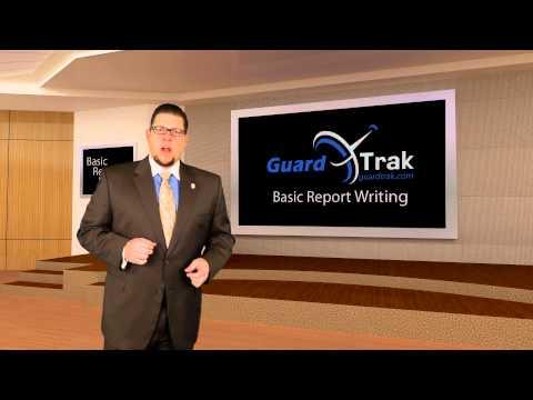 Guardtrak  Security Basic Report Writing