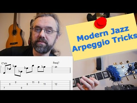 Modern jazz arpeggio ideas 🎸 - Melodic Interval Structures - Guitar Lesson