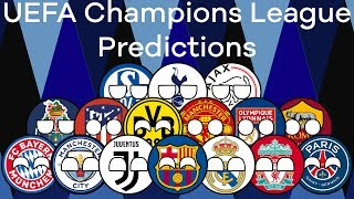 UEFA Champions League 2018/19 Predictions | Round 16 | Marble Race