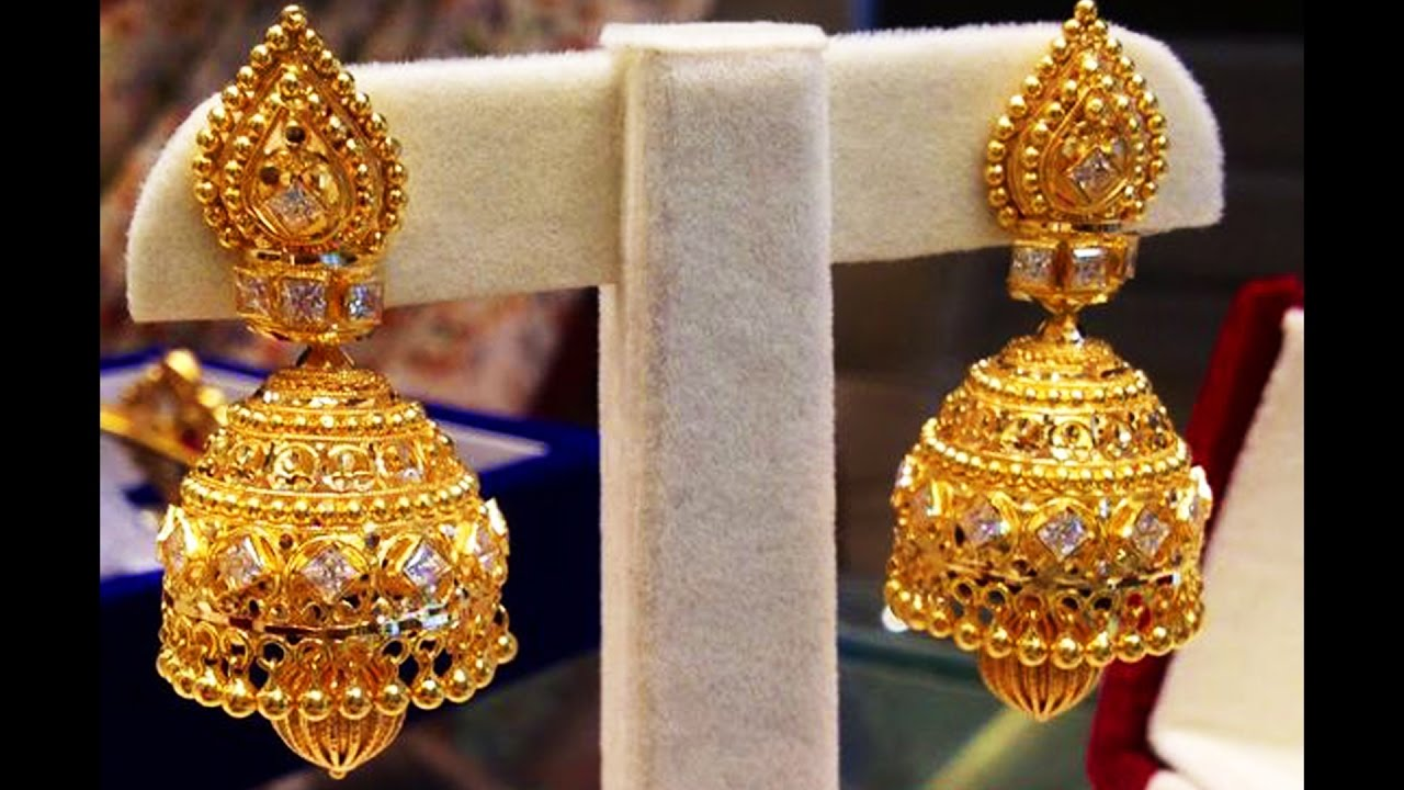 Exclusive Traditional Bridal Gold Earrings Designs